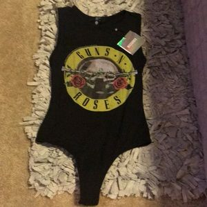 BNWT Missguided Guns.N.Roses bodysuit 🤟🏼